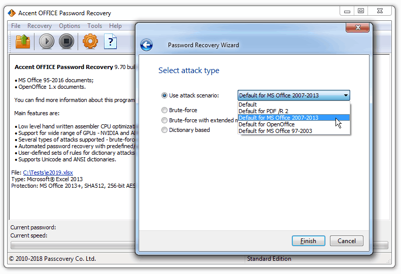 Accent OFFICE Password Recovery 9.7